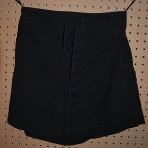 Free People Black Lace Up Skirt